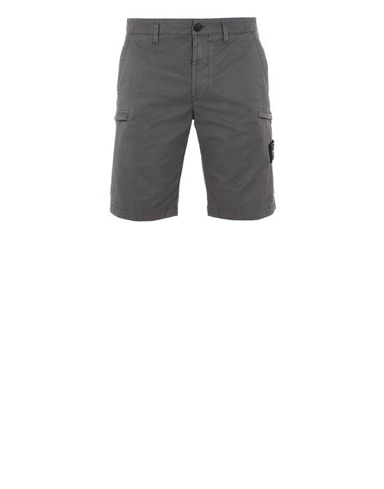 STONE ISLAND L0519 Bermuda shorts Man Blue Grey