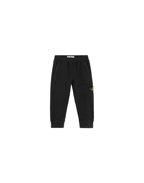 STONE ISLAND BABY 60442 Fleece Pants Man Black