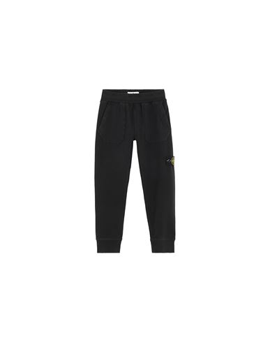 STONE ISLAND KIDS 60442 Fleece Pants Man Black USD 155