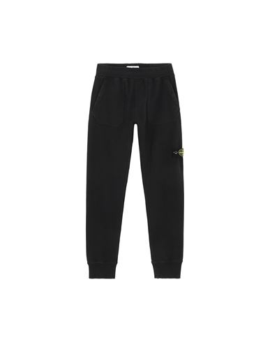 STONE ISLAND JUNIOR 60442 Fleece Pants Man Black USD 189