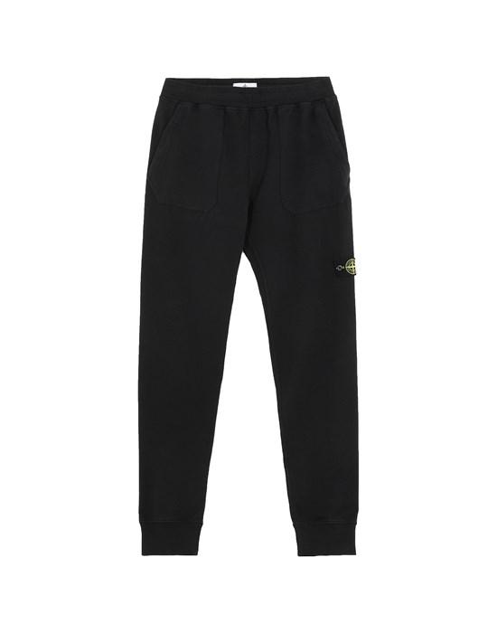 STONE ISLAND JUNIOR 60442 Fleece Pants Man Black