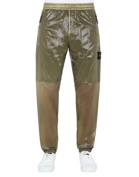 STONE ISLAND 30835 LUCIDO-TC_PACKABLE TROUSERS Man Olive Green