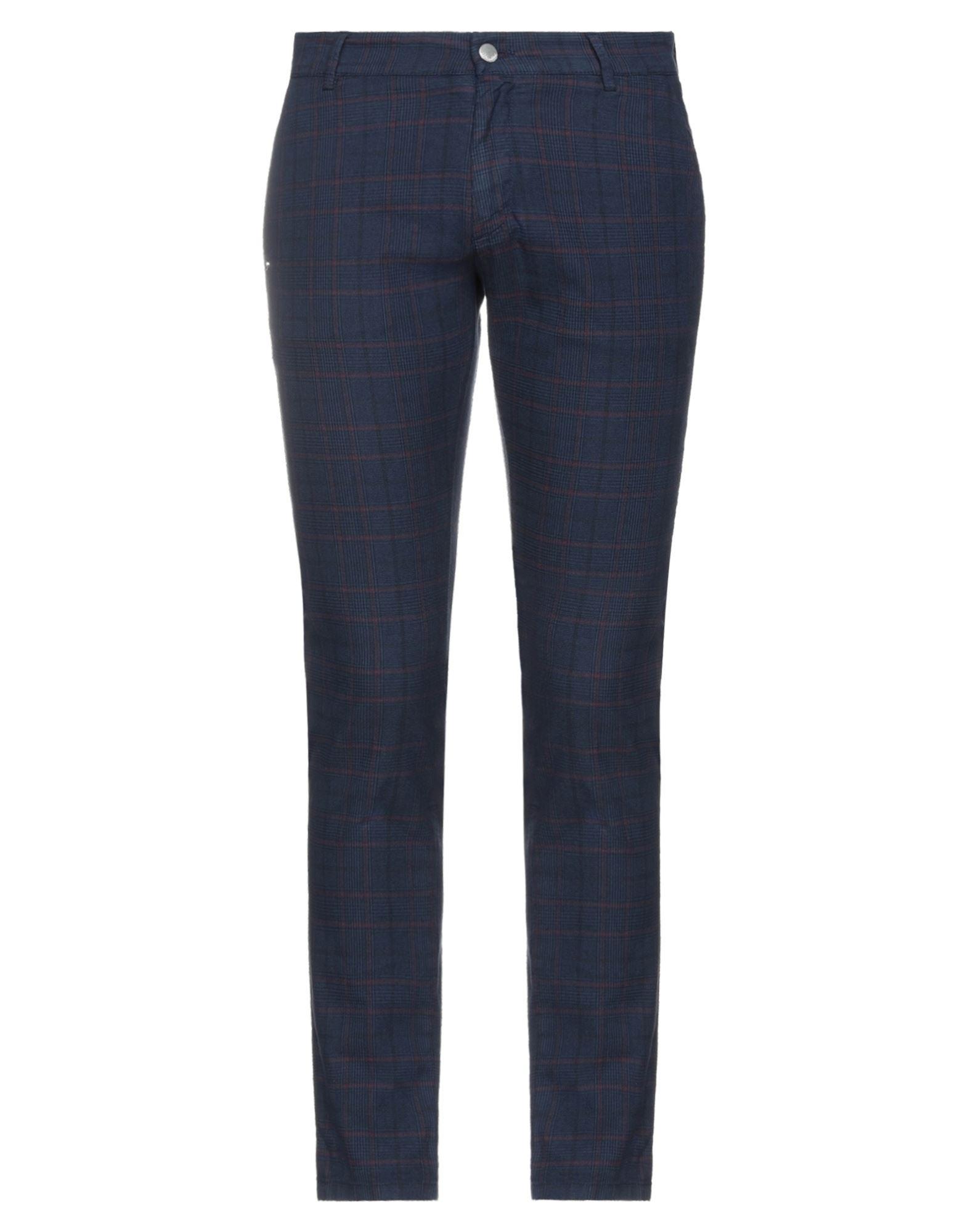 Grey Daniele Alessandrini Casual Pants In Blue