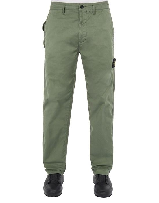 STONE ISLAND 30310 STRETCH COTTON GABARDINE_REGULAR FIT Pants Man Sage Green
