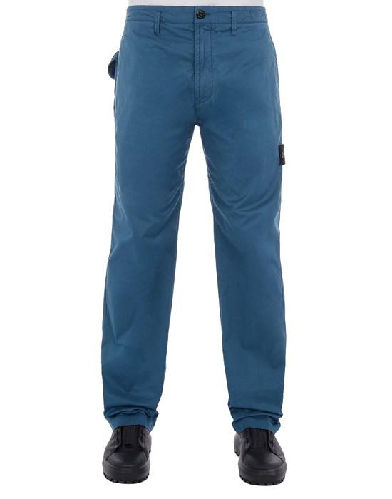 STONE ISLAND 30310 STRETCH COTTON GABARDINE_REGULAR FIT Trousers Man Teal