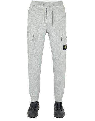 STONE ISLAND 65220 BRUSHED COTTON FLEECE_REGULAR FIT Fleece Trousers Man DUST MELANGE EUR 319