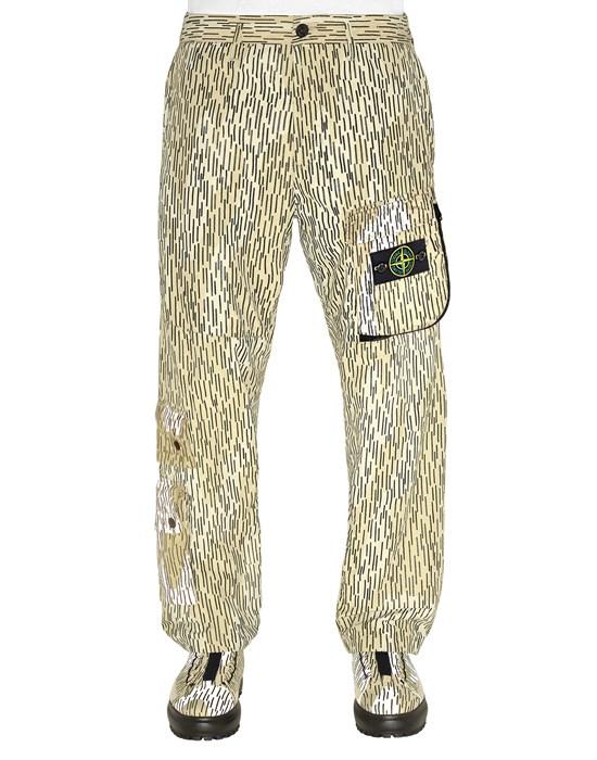 STONE ISLAND 306E2 NASLAN LIGHT 'RAIN CAMO' PRINT_LOOSE FIT Trousers Man Ecru