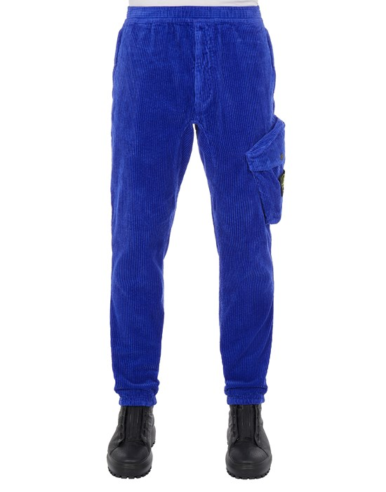 STONE ISLAND 30811 COTTON CORDUROY_REGULAR TAPERED FIT Trousers Man Periwinkle