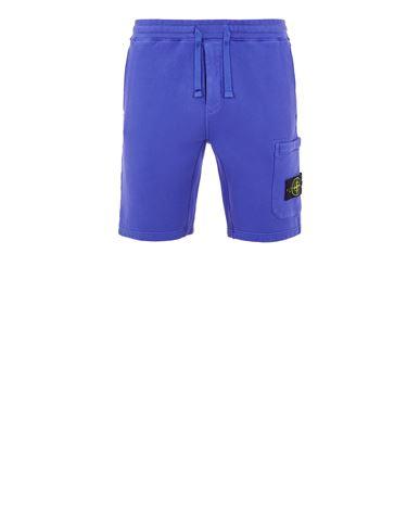 STONE ISLAND 64620 BRUSHED COTTON FLEECE_REGULAR FIT Bermuda shorts Man Periwinkle EUR 209