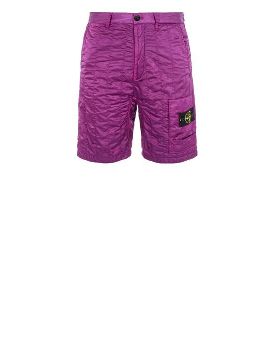 STONE ISLAND L0121 NYLON RASO QUILTED-TC_COMFORT FIT Bermuda shorts Man Magenta