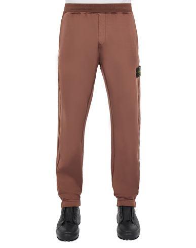 STONE ISLAND 63347 COTTON NYLON FLEECE_REGULAR FIT Fleece Trousers Man MAHOGANY BROWN EUR 295