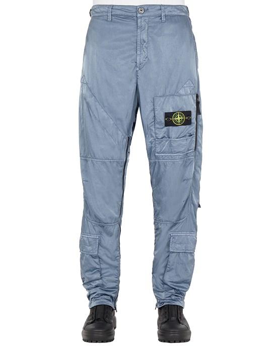 STONE ISLAND 31021 NYLON RASO-TC_REGULAR FIT Pants Man Pastel Blue