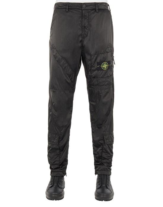 STONE ISLAND 31021 NYLON RASO-TC_REGULAR FIT Trousers Man Black