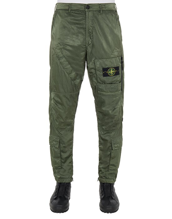 Sold out - Other colors available STONE ISLAND 31021 NYLON RASO-TC_REGULAR FIT Pants Man Sage Green