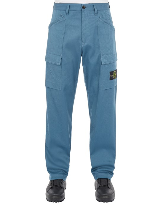 STONE ISLAND 30702 MIL.SPEC.STRETCH COTTON_LOOSE FIT Trousers Man Teal