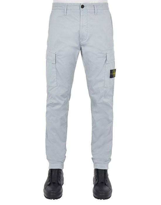 STONE ISLAND 30510 STRETCH COTTON GABARDINE_REGULAR TAPERED FIT Trousers Man Pearl Grey