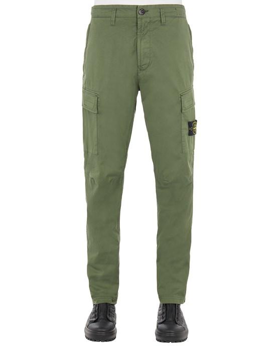 Pants Man 30510 STRETCH COTTON GABARDINE_REGULAR TAPERED FIT Front STONE ISLAND