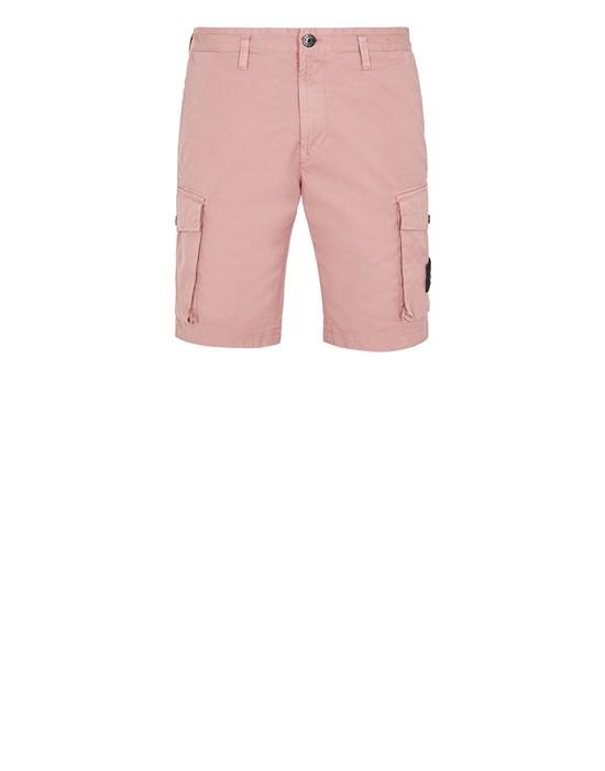 STONE ISLAND L0719 Bermuda shorts Man Pink Quartz