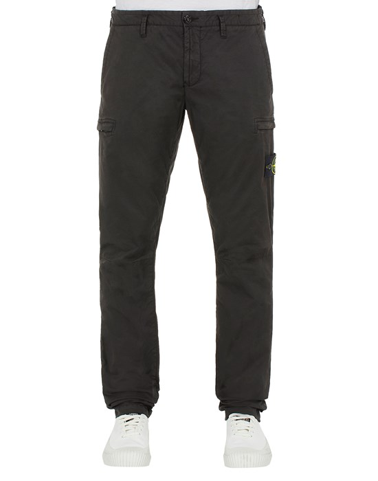 STONE ISLAND 32104 T.CO 'OLD'  TROUSERS Man Black.