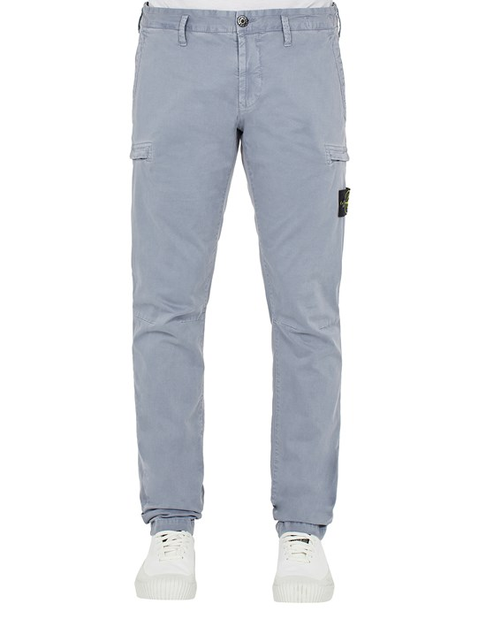 STONE ISLAND 32104 T.CO 'OLD'  Trousers Man Pastel Blue