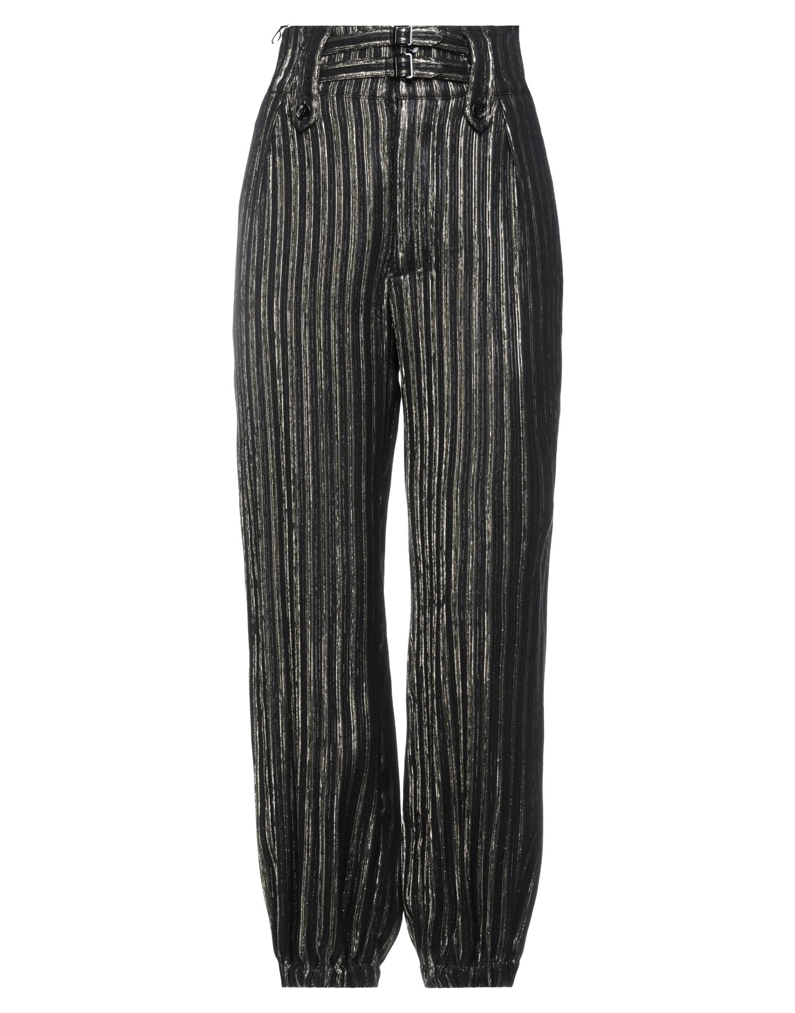 《セール開催中》SAINT LAURENT レディース パンツ ブラック 36 レーヨン 80% / シルク 16% / 金属繊維 4%