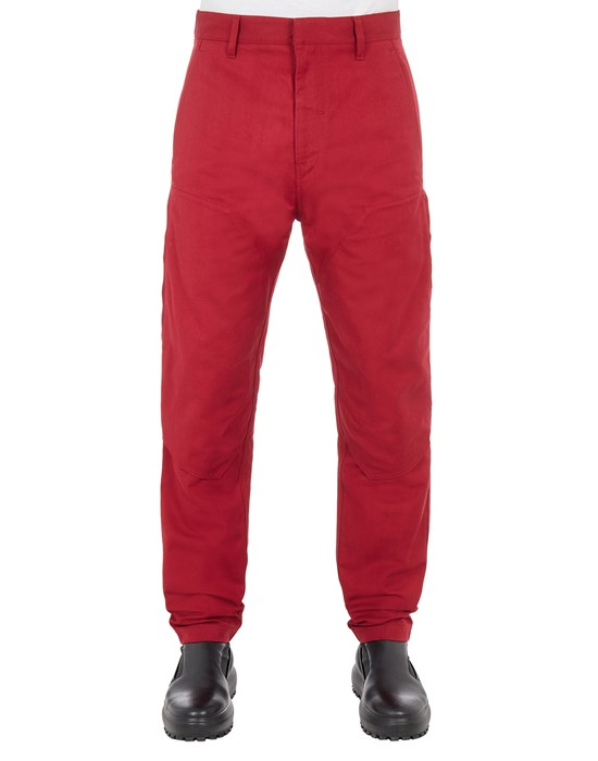 STONE ISLAND SHADOW PROJECT 30409 TEXTURED COTTON_CHAPTER 1 TROUSERS Man Garnet