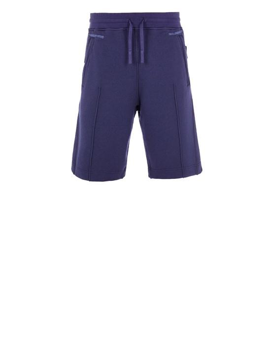 STONE ISLAND SHADOW PROJECT 60410 WOOL COTTON FELPA, GARMENT DYED_CHAPTER 1 Fleece Bermuda Shorts SHADOW Man Royal Blue