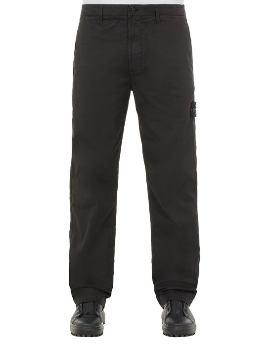 STONE ISLAND 30310 STRETCH COTTON GABARDINE_REGULAR FIT Trousers Man Black