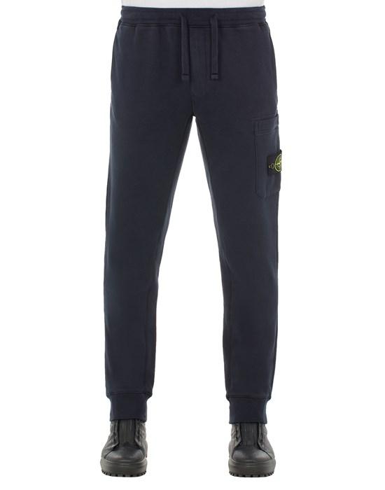 STONE ISLAND 64520 BRUSHED COTTON FLEECE_SLIM FIT Trousers Man Blue