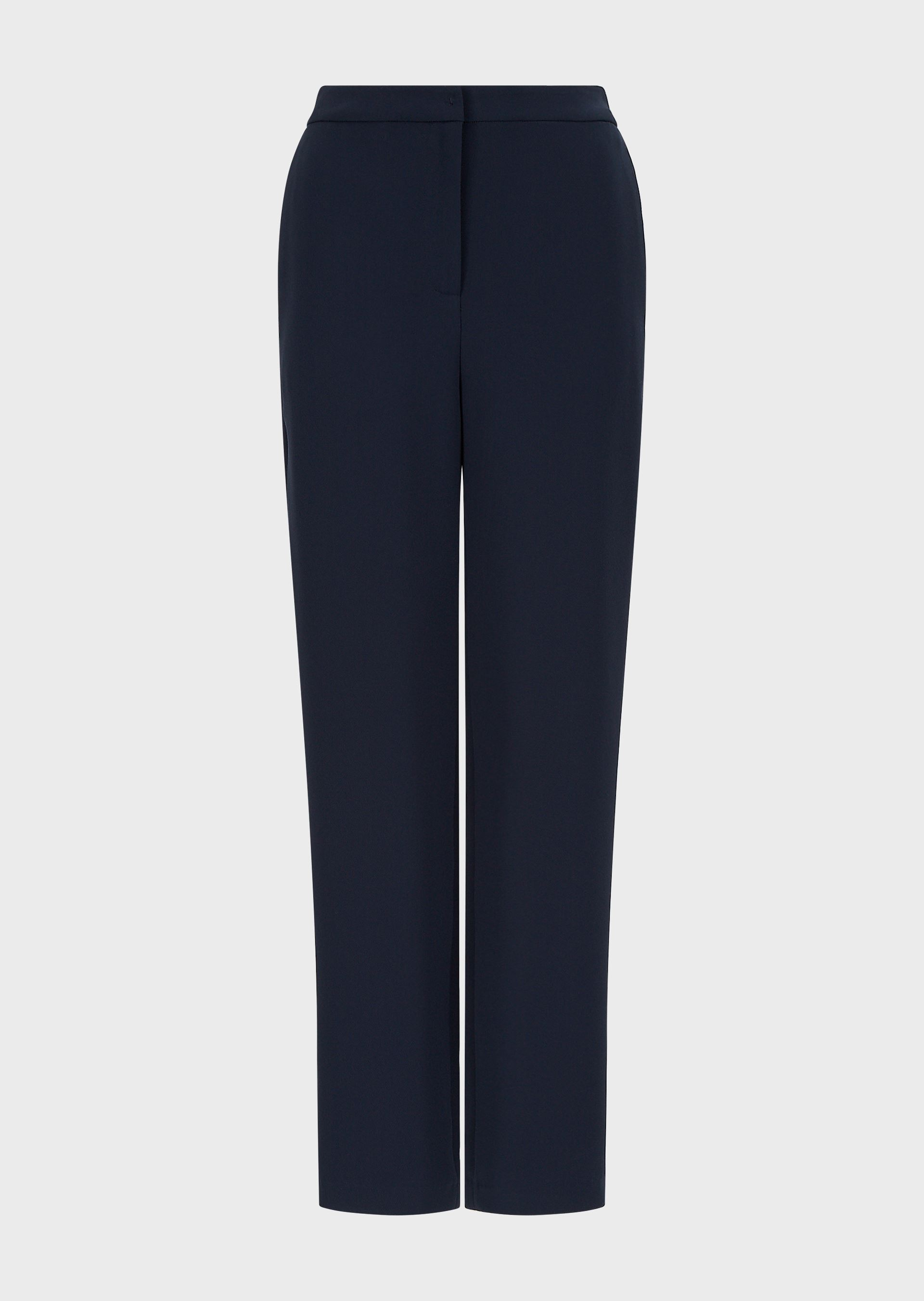 EMPORIO ARMANI Technical crêpe trousers with elasticated detail