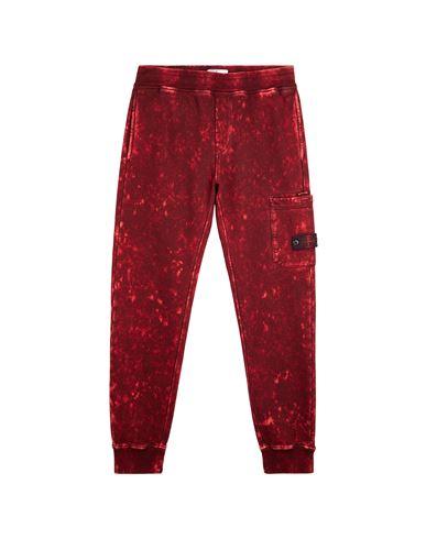 STONE ISLAND TEEN 61241 OFF DYE OVD TREATMENT Fleece Pants Man Maroon USD 309