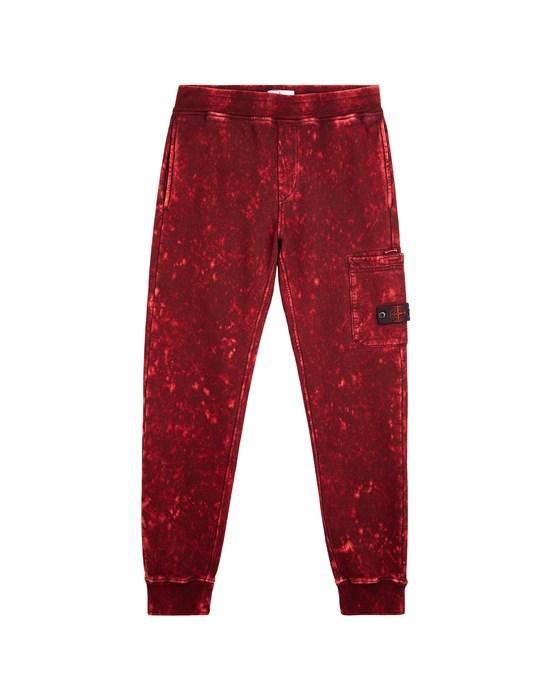 Fleece Trousers Man 61241 OFF DYE OVD TREATMENT Front STONE ISLAND TEEN
