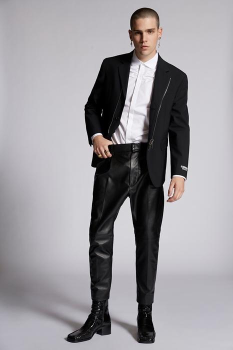 Pantalon Taille 42 100% Cuir d'agneau Polyester Coton - Dsquared2 - Modalova
