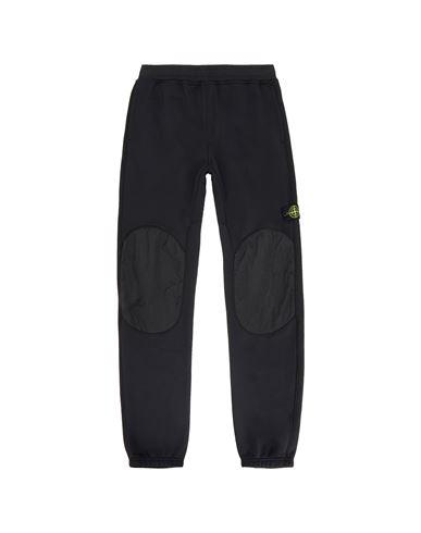 STONE ISLAND TEEN 60846 Fleece Pants Man Black USD 298