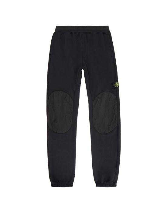 STONE ISLAND JUNIOR 60846 Fleece Pants Man Black