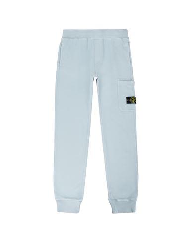 STONE ISLAND TEEN 61540 Fleece Trousers Man Pastel Blue EUR 169