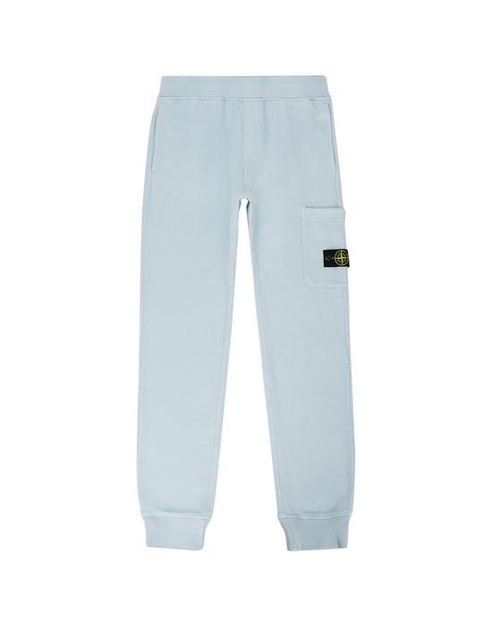 STONE ISLAND JUNIOR 61540 Fleece Pants Man Pastel Blue