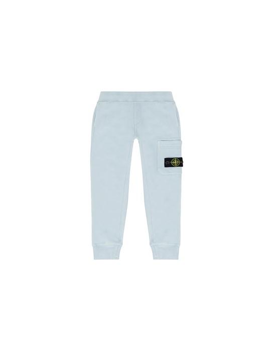 STONE ISLAND JUNIOR 61540 Fleece Trousers Man Pastel Blue