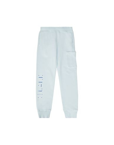STONE ISLAND JUNIOR Fleece Pants Man 61840 'MORSE CODE' f