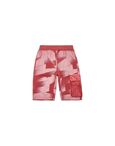STONE ISLAND JUNIOR Fleece Bermuda Shorts Man 62044 S.I. DAZZLE REFLECTIVE CAMOUFLAGE ON FLEECE f