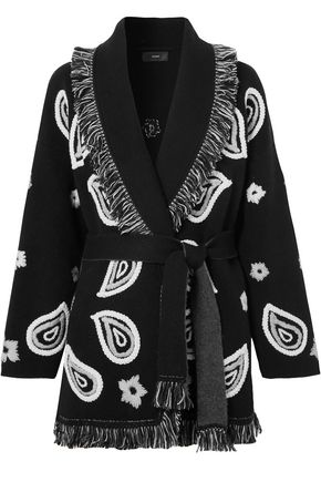 ALANUI Bandana fringed embroidered cashmere cardigan