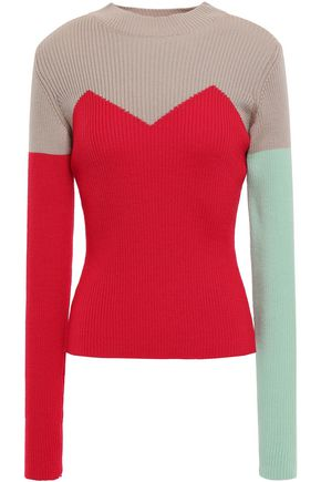 ANNA OCTOBER Ribbed intarsia wool-blend sweater
