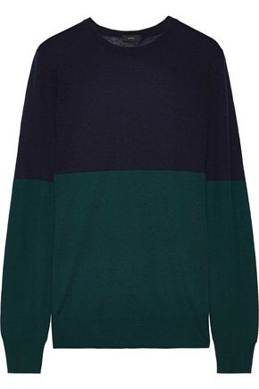 JOSEPH Two-tone cashmere sweater