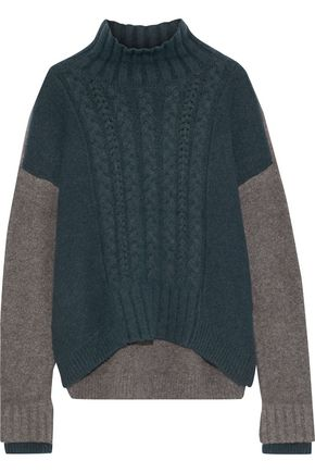 IRIS & INK Almeta brushed cable-knit turtleneck sweater