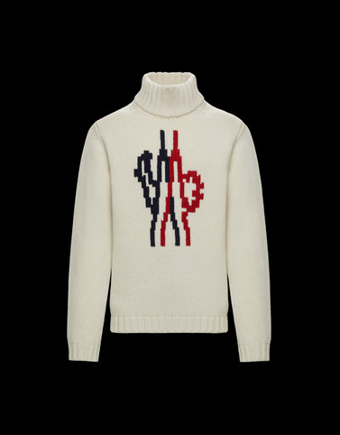 HIGH NECK SWEATER White 2 Moncler 1952 Valextra