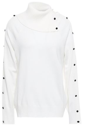 DKNY Button-embellished knitted sweater