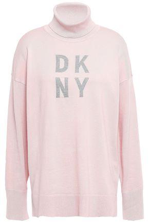 DKNY Intarsia-knit turtleneck sweater