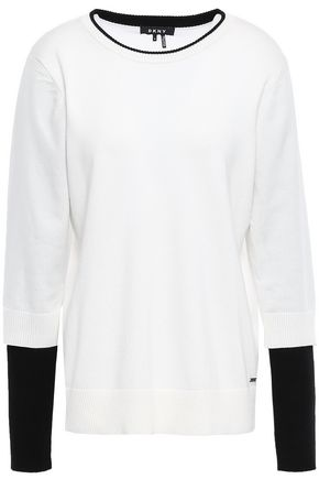 DKNY Layered knitted sweater