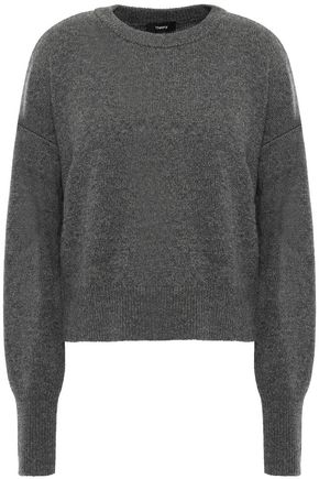 THEORY Heather Boulder mélange cashmere sweater