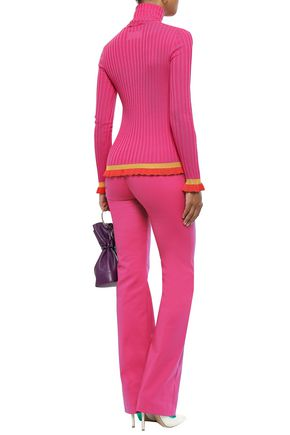 EMILIO PUCCI Striped ribbed wool turtleneck sweater